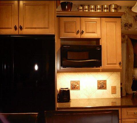 Since Most Of My Upper Cabinetry Is In Corners I Definitely Want To Use  Lighting And Plugmold Like This. Amazing Wall Mounted Microwave Cabinet ...